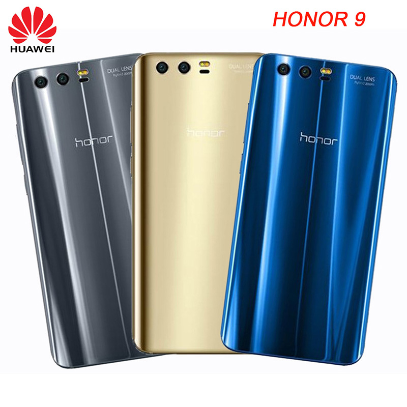 Original 3D Reflection Glass Rear Housing Cover For HUAWEI Honor 9,Back Door Replacement Hard Case ,5.15 Inch(China)