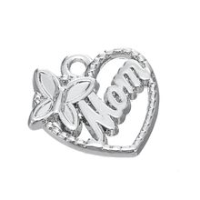 9141e3f2db09 Moda corazón aleación familia abuela tía mamá hija encantos DIY accesorios  para pulsera y collar joyería 50 unids lote
