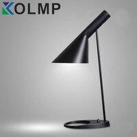 Replica Danmark AJ Table Lamp Modern Designer Desk Lamp For Bedroom/Living Room/Office Metal Black/White led lamp desktop