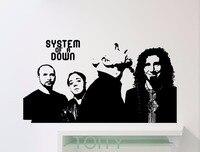System Of A Down Dán Tường SOAD Thay Thế Âm Nhạc Vinyl Decals Nghệ Thuật Pop Home Phòng Trang Trí Nội Thất