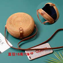 Knitting Cross Body Child And Mother The Cane Makes Up Package Pure Handmade High Quality Artistic Hand-Woven Buckle