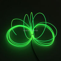 15Meters 1 3mm 10color EL Wire Flexible Neon Light Glow Rope Tape Cable Strip Neon Lights