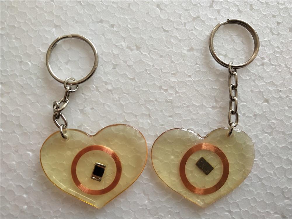 EM4100 Keychains 125Khz RFID Proximity ID Card Tags Keyfobs Only Read
