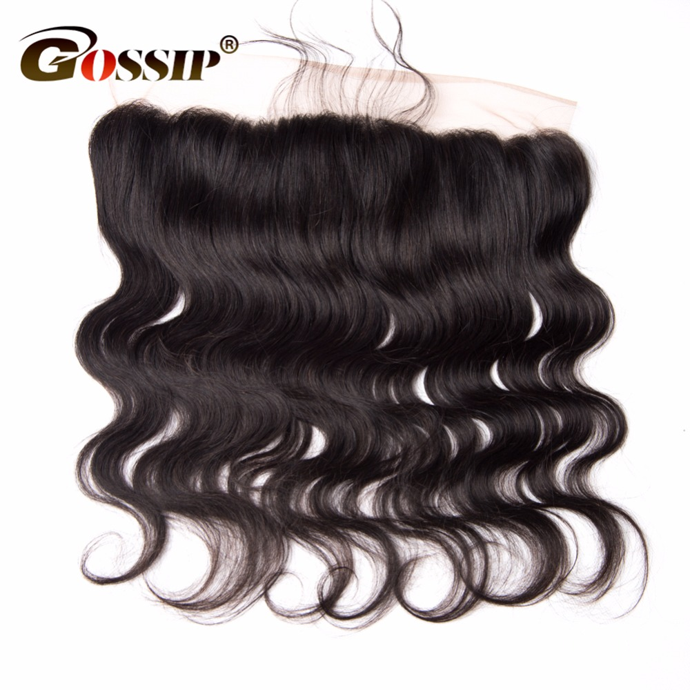 Cierre Frontal de encaje suizo de onda del cuerpo 13x4 pelo brasileño cierre Frontal de encaje Pre desplumado cabello humano cierre Remy cabello humano-in Cierres from Extensiones de cabello y pelucas on AliExpress - 11.11_Double 11_Singles' Day 1