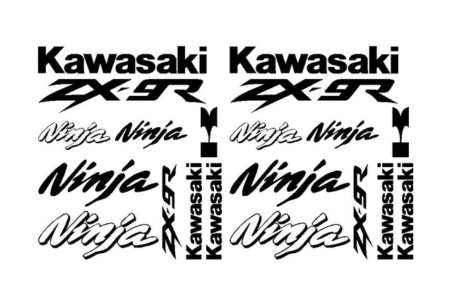 For 1Set Kawasaki Ninja ZX 9R Decal Sticker Kit ZX 9R