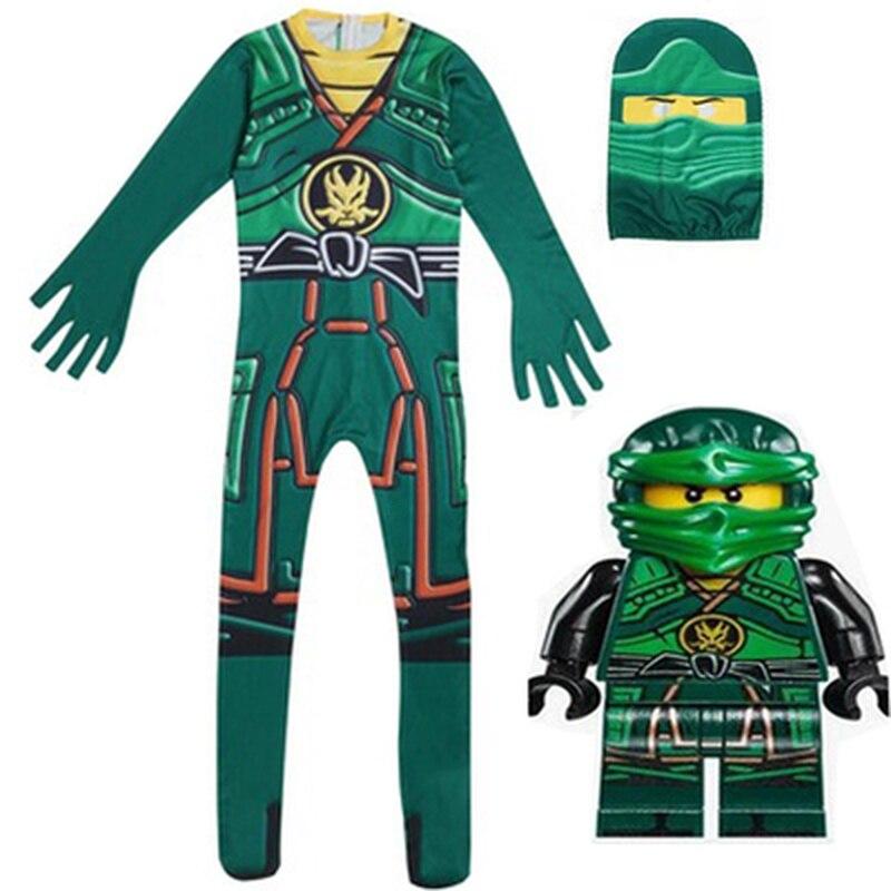Enfants Vêtements Set ninjago Super hero homme halloween party De Noël Cosplay Costumes manteau Enfants Filles Garçons Vêtements Ninja masque