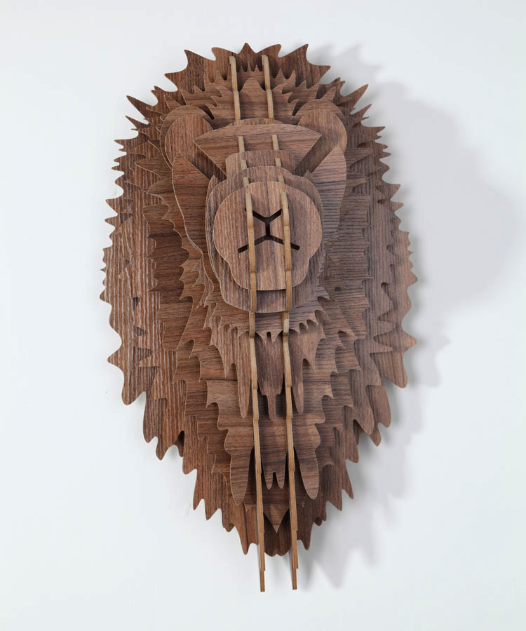 Buy wooden lion head wall hanging wall for Art craft wall hanging
