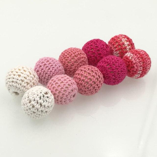 DIY de madera Chunky perlas de ganchillo, 56 colores, cuentas ...
