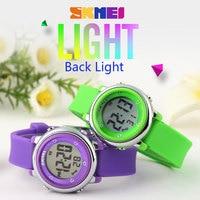 SKMEI 1100 Children Watch LED Digital Sports Relojes Mujer Boys Girls Fashion Kids Cartoon Jelly Waterproof