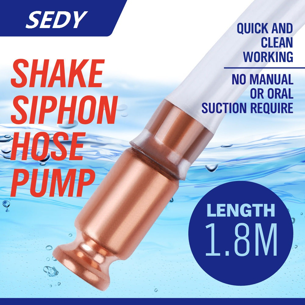 SEDY 6FT Self Priming Siphon Hose Pump Automatic Water Jiggler Liquid Transfer Self Priming Shake Siphon Hose Pump Long 180CMSEDY 6FT Self Priming Siphon Hose Pump Automatic Water Jiggler Liquid Transfer Self Priming Shake Siphon Hose Pump Long 180CM