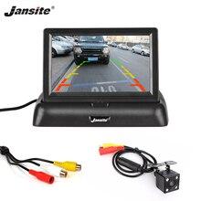 """Jansite 4,"""" Автомобильный монитор TFT lcd Автомобильная камера заднего вида парковочная система заднего вида для резервной камеры поддержка VCD DVD обратное изображение"""