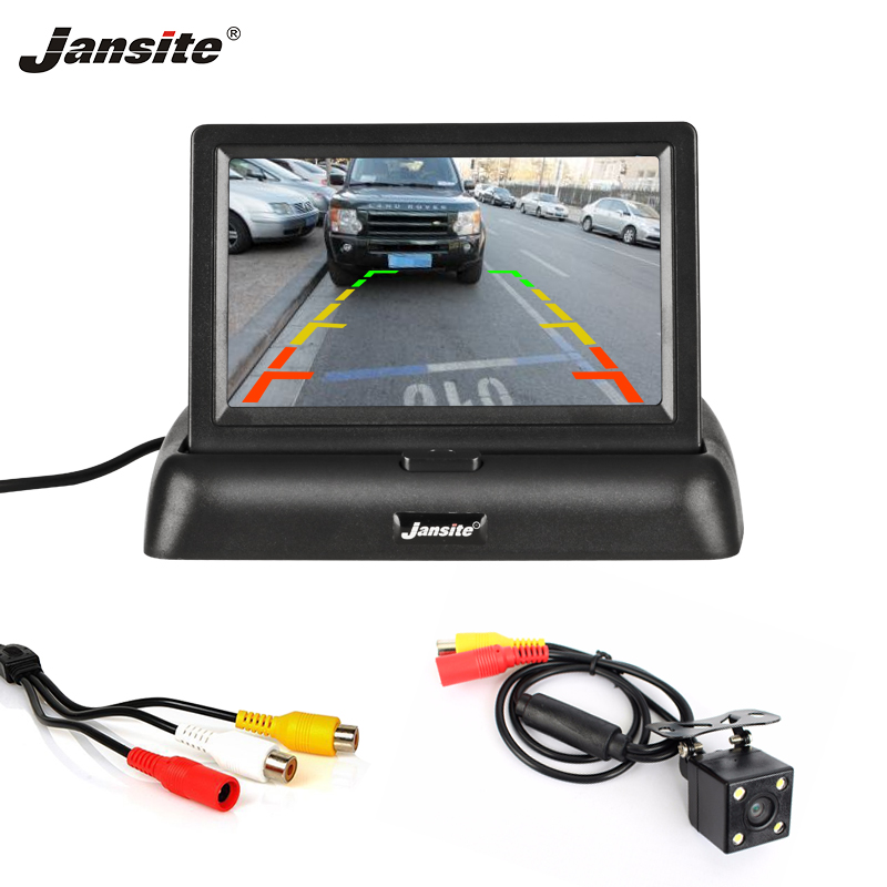 Jansite 4.3 Car monitor TFT LCD Car Rear View Camera Parking Rearview System for Backup Camera Support VCD DVD Reverse image