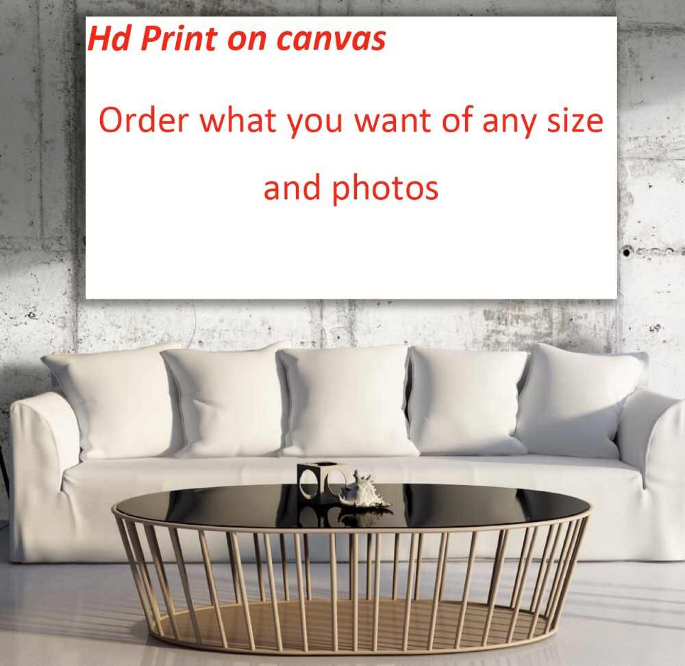 Custom Print on Canvas Your Family photos couple photos Famous painting Movie posters outdoor advertising etc,Free shipping.