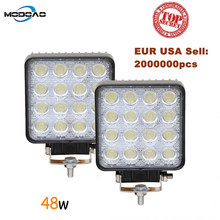 Modoao 10Pcs 48W LED Work Light Offroad Car 4WD Truck Tractor Boat Trailer 4x4 ATV SUV 24V Spot Flood 4.2'' LED Driving Light(China)