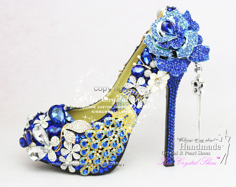 Royal Blue Wedding Shoes New Customized Amazing Pumps High Heel Dress For Bridal In Womens From On Aliexpress