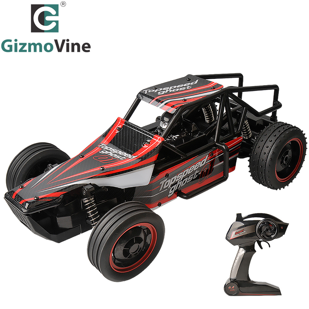 GizmoVine RC Car 1/10 2.4Ghz 25km/Hour Electric car RTR Remote Control Model Off-Road Vehicle Shock Resistant off-road car Toys