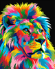 Colorful Abstract Lion Framed Picture Painting Calligraphy DIY Painting By Numbers Coloring By Numbers GX9053 40