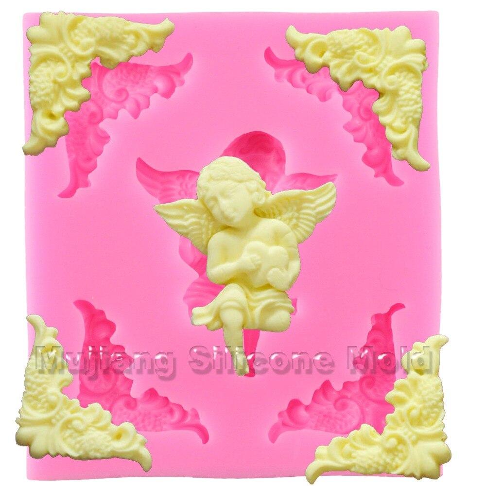 Cake Decorating Gum Paste Nz : Angel Silicone Molds Relief Frame Fondant Cake Decorating ...