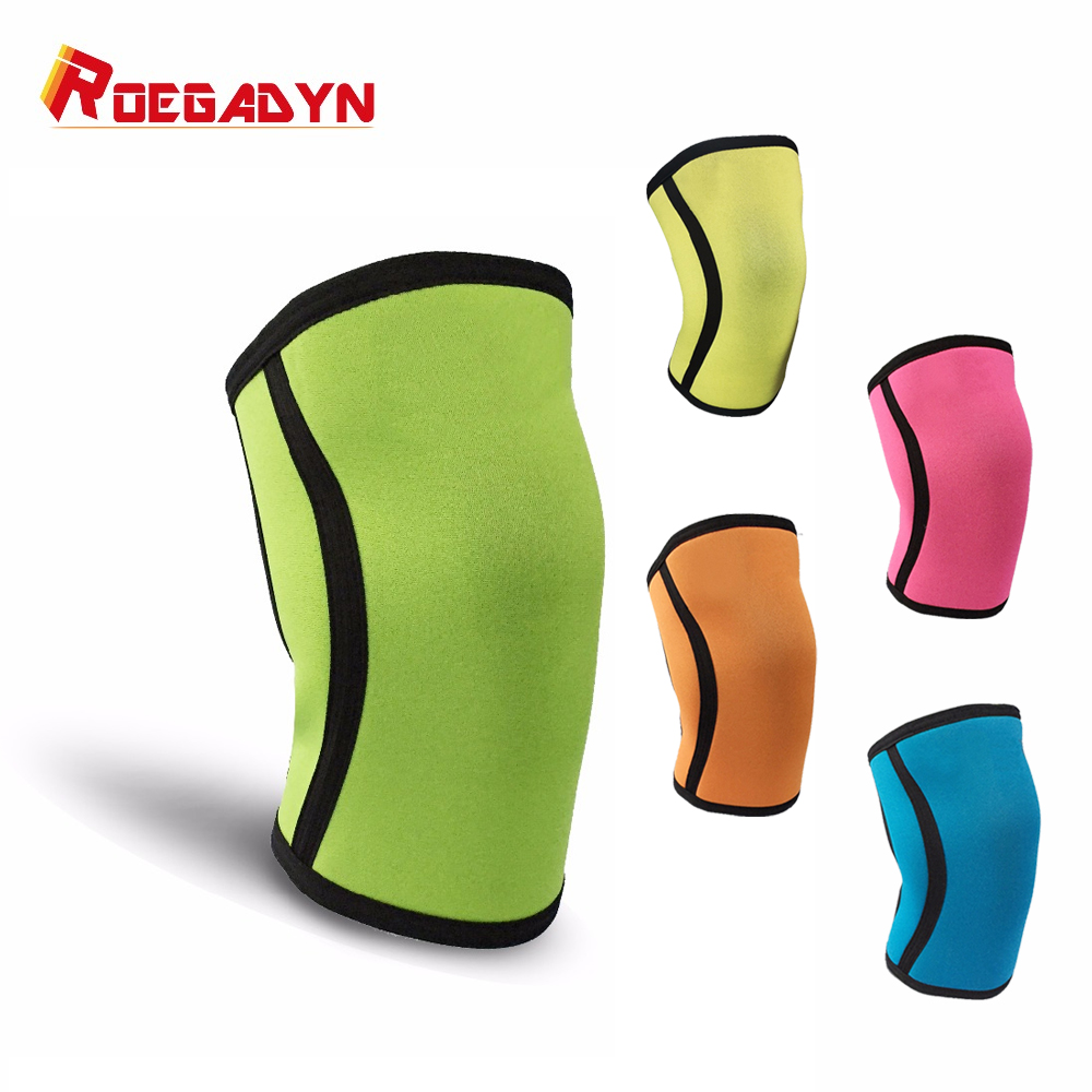 2 pieces Custom roegadyn Athletic compression 7mm neoprene knee sleeves for fitness crossfit