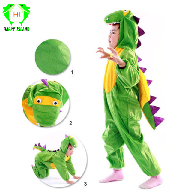 2019 New Children Cartoon Animals Dinosaur Cosplay Costumes Kids Boys Girls Party Cosplay Clothes Fancy Dress Complete Costume