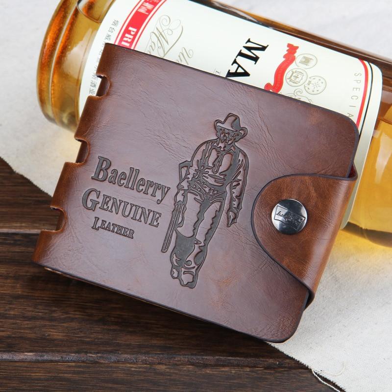 Men wallet Vintage Hollow Out Male Money Bag Hasp Leather Wallet Men Clutch Purse Slim Card Holder Men Wallets Coin Pocket 505