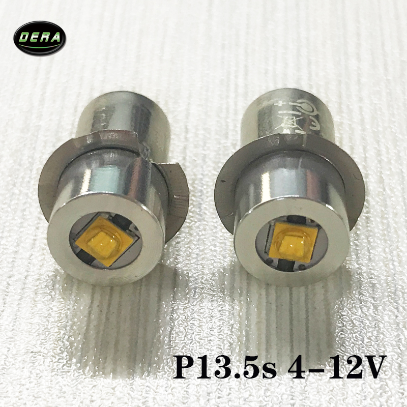 P13.5s 3watt 4v To 12V 10v 9v 6v 4.5v  Led Flashlight Bulb 3w Torch Light For Driving Lights And Head Lamp