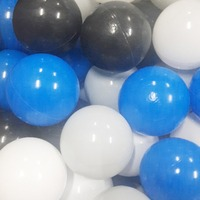 100Pcs 7CM Baby Plastic Ocean Balls Toys For Pool Pit Black Grey White Blue Mix Stress ball Toys For Children Play Tent Gift
