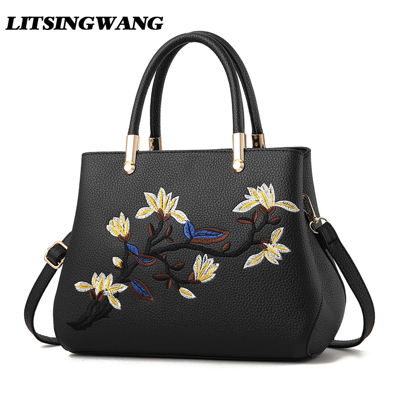 LITSINGWANG Brand NEW Women Business Totes Chinese National Style Ladies Messenger Shoulder Handbags Embroidery Crossbody Bags