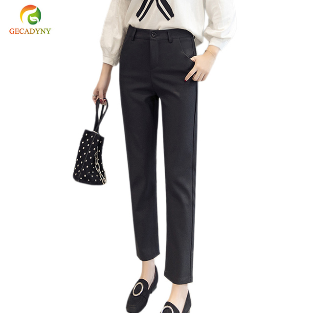 high quality office work. High Quality Women Formal Office Work Pants Large Size Slim Ladies Harem Black Grey OL S