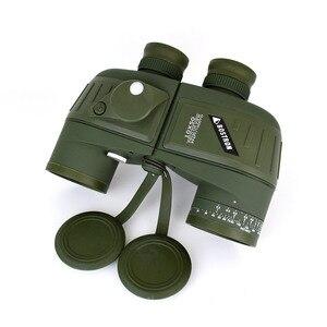 Image 3 - 10X50 Optics Militaire Verrekijker Telescoop Waterdicht Schokbestendig Spotting Scope Met Kompas Voor Camping Reizen Jacht Boshiren