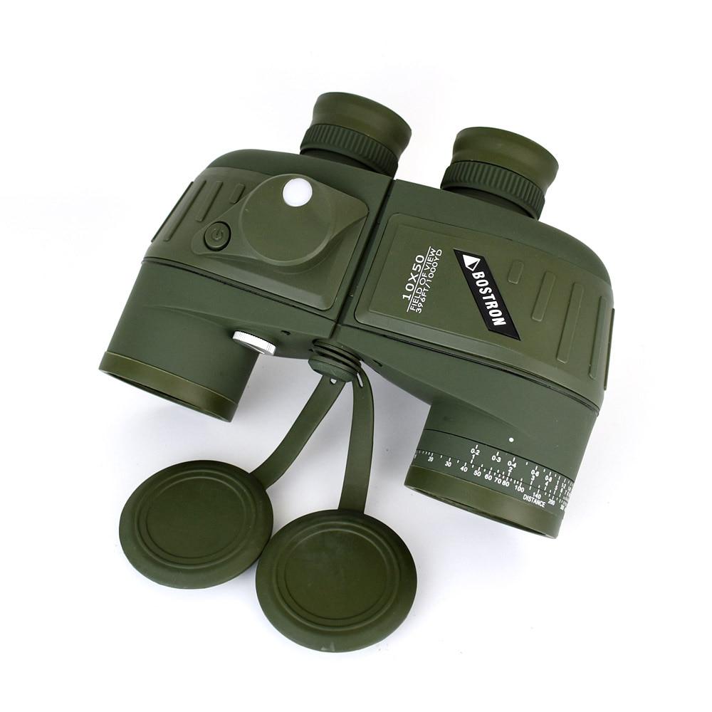 Tools : 10X50 Optics Military Binocular Telescope Waterproof Shockproof Spotting Scope with Compass for Camping Travel Hunting Boshiren