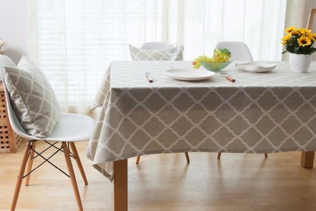 Superieur Linen Cotton Tablecloths For Rectangular Tables Grey PlaidTable Cover Linen Table  Cloth Rectangular Banqueting