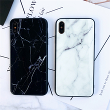 Marble Tempered Glass Cases For iPhone 7 8 Plus 6 6S Gradient Colorful Case for X XS Max XR Back Cover