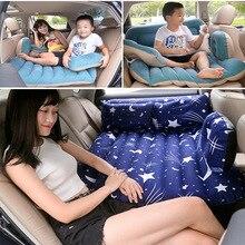 Colchón de aire inflable multifunción para coche, cama de viaje para cubierta del asiento trasero, para acampar al aire libre, cama para niños con almohada