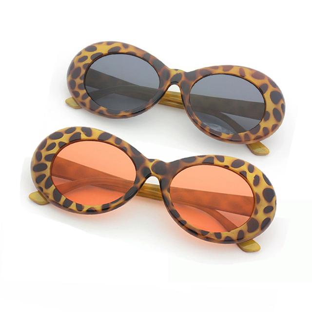 Long Keeper Brand Sunglasses Women Men's NIRVANA Kurt Cobain Sun Glasses With Leopard Frame Top Quality Oval Style Eyewear UV400
