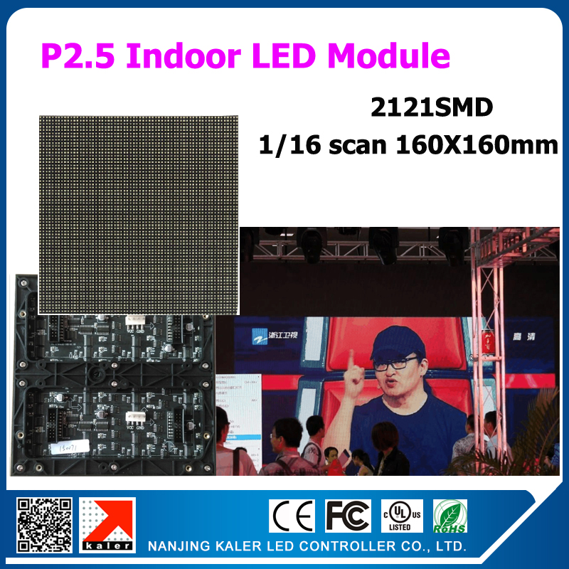 US $68 0 |TEEHO Indoor P2 5 led modules160x160mm 1/16 scan 64x64 pixel led  display module for text video LED module Display led panel -in LED Displays