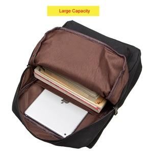 Image 3 - Gato bonito lona mochila dos desenhos animados bordados mochilas para meninas adolescentes saco de escola fashio preto impressão mochila xa69h