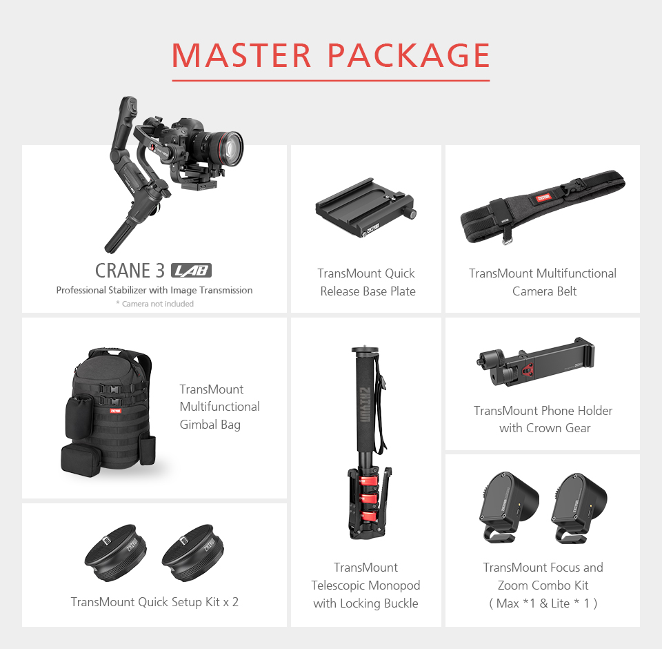 Zhiyun Crane 3 Lab Crane 2 Upgrade Version 3-Axis Gimbal Stabilizer for DSLR Cameras, 1080P Full HD Wireless Image Transmission 22