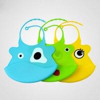 (5pcs/lot) Fashion Animal Pattern Silicone Waterproof Baby Bibs Health Bib Infant Baby Cute Feeding Bid Free shipping T7008