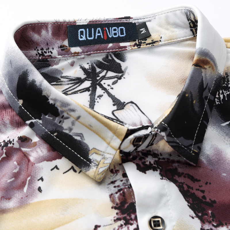 Camisas Ropa Nueva 6xl Manga Verano 2018 Quanbo Impresión Corta Camisa M Marca De Plus Tamaño Los Casuales Flower Llegada Hombres Uwxx0nBq5