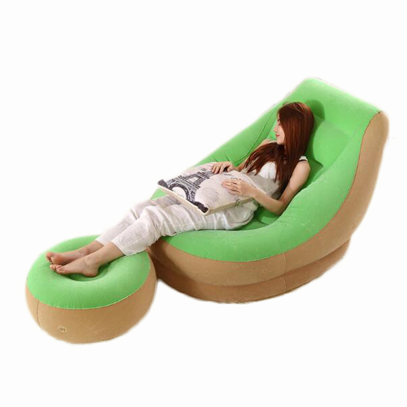 Lazy sofa single small inflatable sofa bed bedroom balcony nap creative leisure hostel lazy chair 1pc free shipping DHL sofa cama inflable