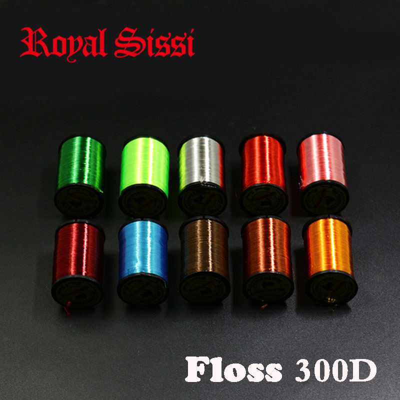 Royal Sissi 10Colors fly tying super floss thread highly waxed <font><b>300D</b></font> fly tying flat silky yarn for Salmon Steelhead trout flies image