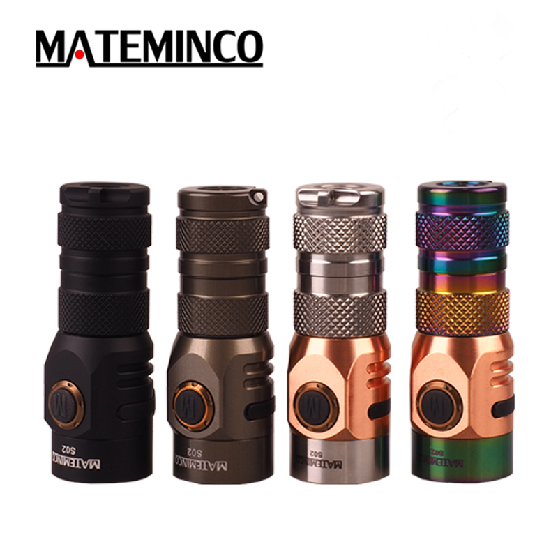 Stainless Steel Flashlight MATEMINCO S02 CREE XPG3 2 NICHIA 219C max 1630LM outdoor torch for everyday