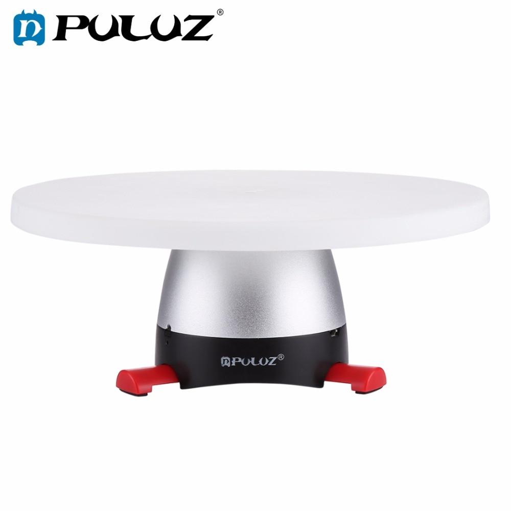 PULUZ Elettronico Rotazione di 360 Gradi Panoramic Tripod Testa (Rosso) + Vassoio Rotondo con Controllo Remoter Fit per le Riprese prodotti di piccole dimensioni