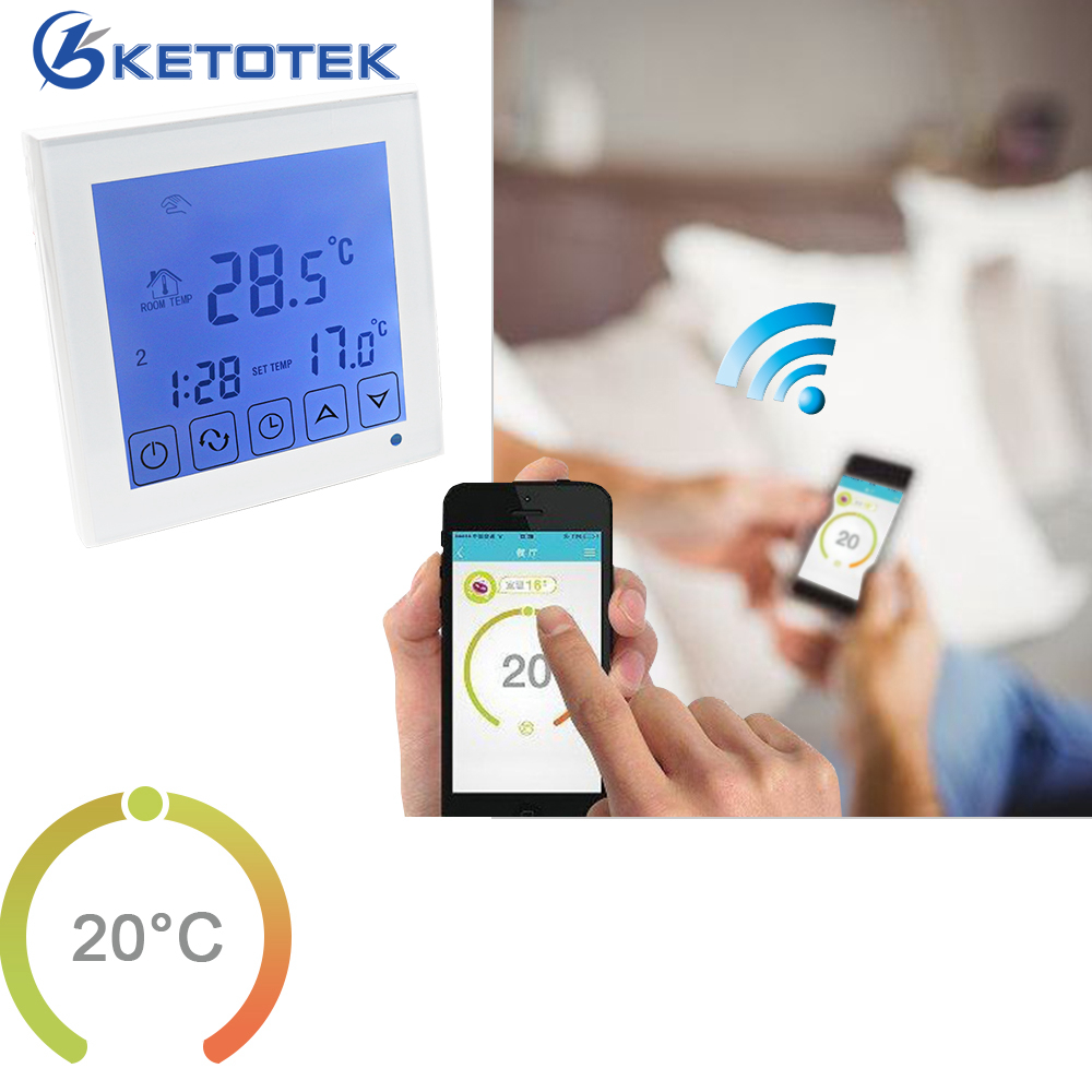 WiFi Thermostat 3A Water Heating Temperature Controller 16A Electric Heating Thermostat Regulator LCD Touch Screen Backlight