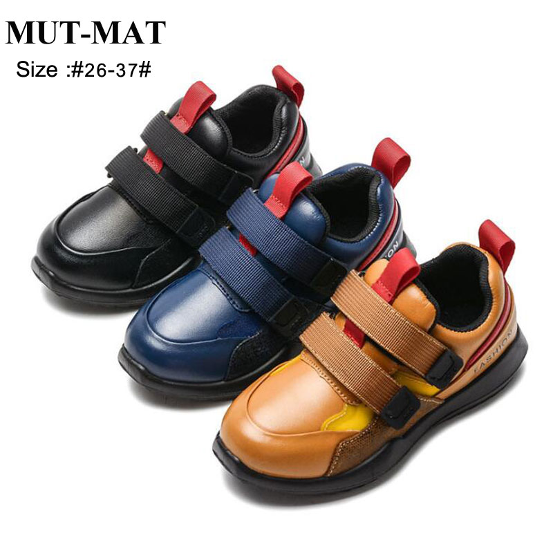 2019 Spring Kid Genuine Leather Shoes Children Pure Color  Performance Shoes  Boy's Soft Bottom Shoes