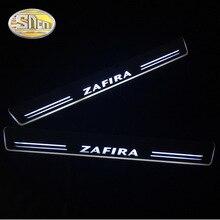 SNCN 4 шт. акриловый движущийся светодиодный приветственный педальный автомобиль накладка педаль порога дорожка светильник для Opel Zafira