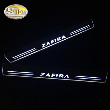 SNCN 4PCS Acrylic Moving LED Welcome Pedal Car Scuff Plate Pedal Door Sill Pathway Light For Opel Zafira 2015 2016 2017 2018 sncn 4pcs acrylic moving led welcome pedal car scuff plate pedal door sill pathway light for skoda octavia a5 a7