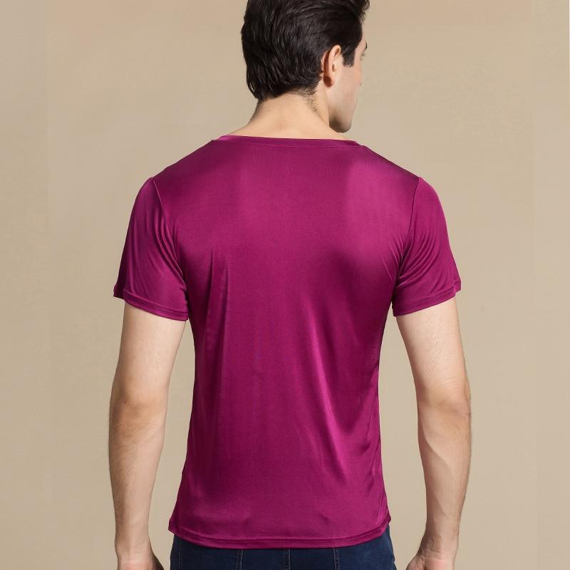 Natuurlijke T Gebreide Dubbelzijdige Zijde Shirt Heren 100 SnwdOxS