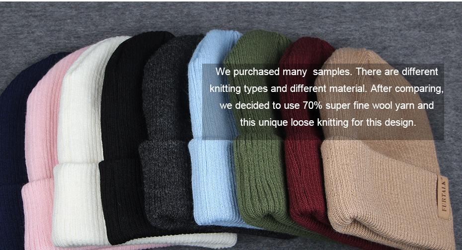 5b1fcceb9 Hot Sale] FURTALK Womens Beanie Hat Autumn Women Wool Knit Beanie ...
